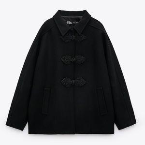 Wool Blend Toggle Coat